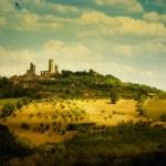 Italian Tuscany San Gimignano  Landscape — Stock Photo #48499167