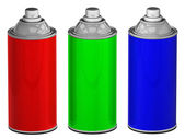 Color spray cans isolated — Stock Photo