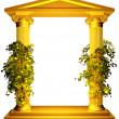 Ionic gold frame with vine — Stock Photo #45361731