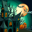 Halloween background — Vector de stock