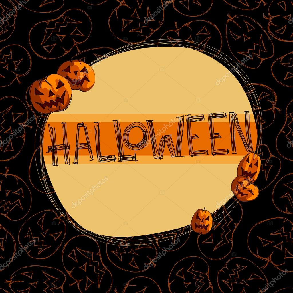 Halloween background, this illustration may be useful as designer work — Grafika wektorowa #13469173