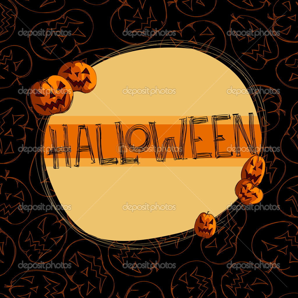 Halloween background, this illustration may be useful as designer work — Stok Vektör #13469173