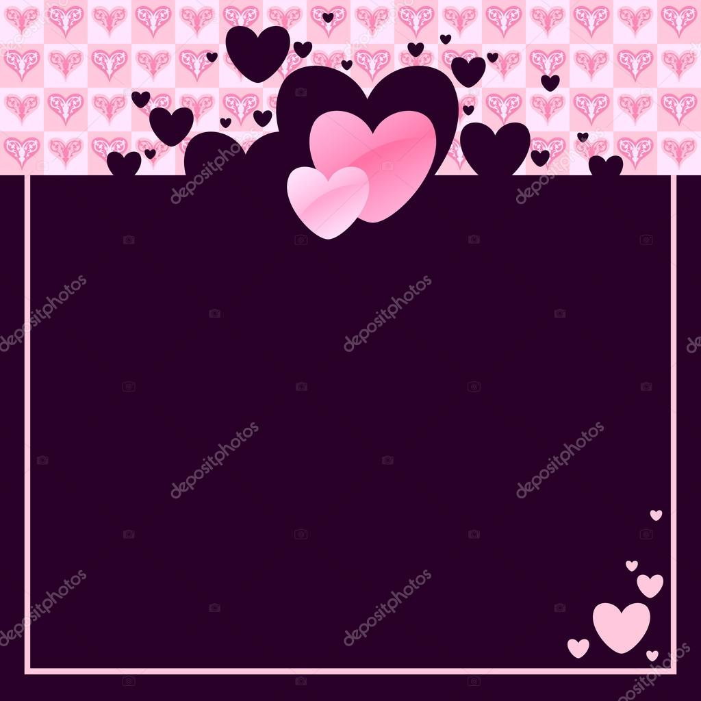 Valentines frame with hearts, this illustration may be useful as designer work — Stock Vector #19162247
