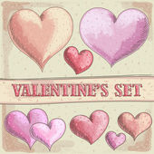 Valentines hearts — Stock Vector