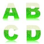 Alphabet green beer ABCD — Stock Vector