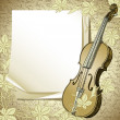 Background with violin - Stock Vector