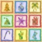 クリスマス セット — ストックベクタ #3591084