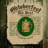 Beer background Oktoberfest — Stock Vector