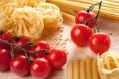 Ingredients for Italian pasta — Stock Photo