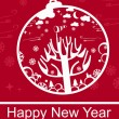 Happy New Year vector greeting card Happy New Year vector greeting card — Stock Photo