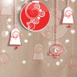 Delicate Christmas greeting card Delicate Christmas greeting card — Stock Photo