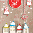 Stock Photo: Applique New Year greeting card Applique New Year greeting card