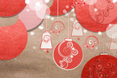 Collage di carta bella natale — Foto Stock