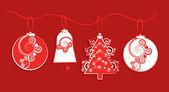 Krans av papper jul dekorationer krans av papper juldekorationer — Stockfoto