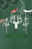 Greeting card with beautiful deer Greeting card with beautiful deer — Stock Photo