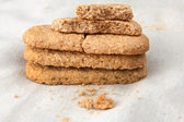 Crunchy crumbly oatmeal cookies — Stock Photo