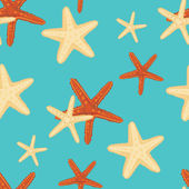 Starfish background pattern — Stock Vector