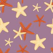Seamless starfish pattern — Stock Vector