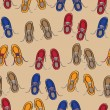 Royalty-Free Stock Vector Image: Rows of colourful casual shoes