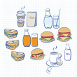 Stock Vector: Food and beverage