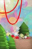 Festive Christmas tree design — Stock Photo