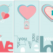 Love You Valentines message — Stock Vector