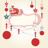 Christmas and New Years Card — Stockvector