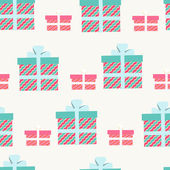 Seamless pattern of gifts and presents — Stock Vector