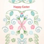 Happy Easter seamless vertical banner — Stock Vector