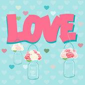 Declaration of Love card design — Stock Vector