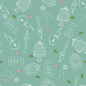 Wedding and Valentines seamless pattern — Wektor stockowy