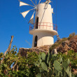 Stock Photo: Windmills in Lasithi Plateau