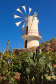 Windmills in the Lasithi Plateau — Stock Photo