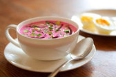 Cold beet soup — Stock Photo