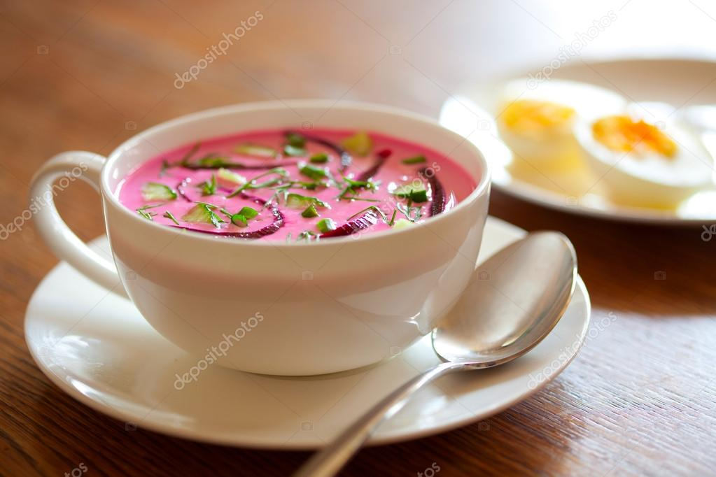 borshch) or Cold beet soup is a cold variety of borsch - beetroot soup ...
