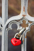 Red lock — Stock Photo