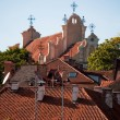 Roofs of churches and houses - Stock Photo