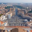 View of Rome from the Dome of St. Peter's Basilica — Stock Photo