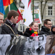 Thousand people gather in nationalist rally in Vilnius — Stok fotoğraf