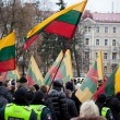 Thousand people gather in nationalist rally in Vilnius — Stockfoto