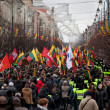 Stock Photo: Thousand people gather in nationalist rally in Vilnius