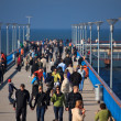 People walking on the Palanga pie — Stok fotoğraf