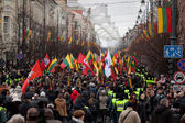 Thousand people gather in nationalist rally in Vilnius — Zdjęcie stockowe