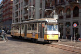 Series 4700 tram in Milan — Stock Photo
