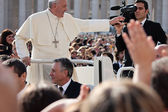 Pope Francis I blesses the faithful — Foto Stock