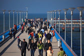 People walking on the Palanga pie — Fotografia Stock
