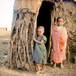 Stock Photo: Masai children