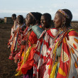 Masai Mara, Kenya - January 6: Maasai women in traditional cloth — Stock Photo #36179801