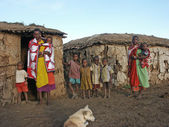 Maasai family — Foto Stock
