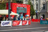 We run Vilnius DNB half-marathon — Stock Photo